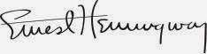 el análisis grafológico de Ernest Hemingway es creativo