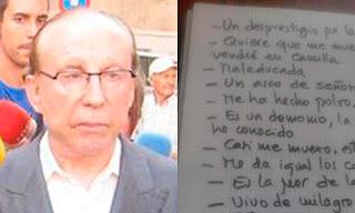 el análisis grafológico de Ruiz Mateos agranda el márgen