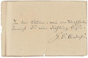 el análisis grafológico de Hans Christian Andersen es ordenado