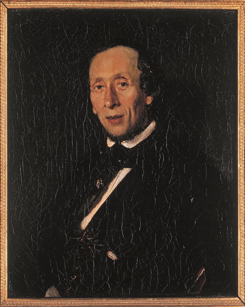 el análisis grafológico de Hans Christian Andersen es floreado