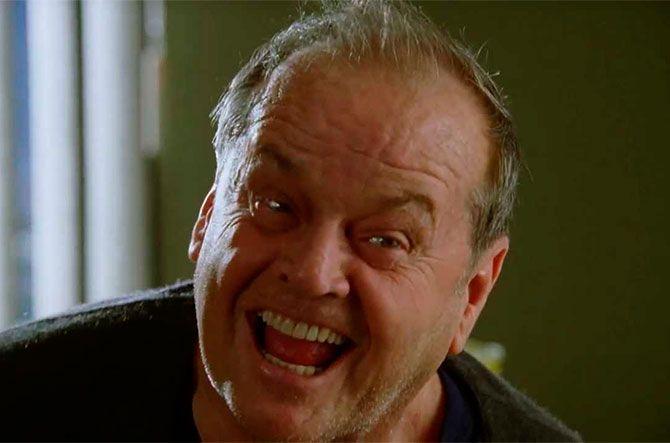 el análisis grafológico de Jack Nicholson es sufriente