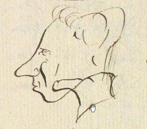 el análisis grafológico de Hans Christian Andersen concuerda con su autorretrato
