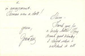El análisis grafológico de Joan Baez es sensible