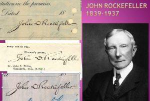 El análisis grafológico de John Rockefeller es controverido.