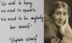 El análisis grafológico de Virginia Woolf es medido.