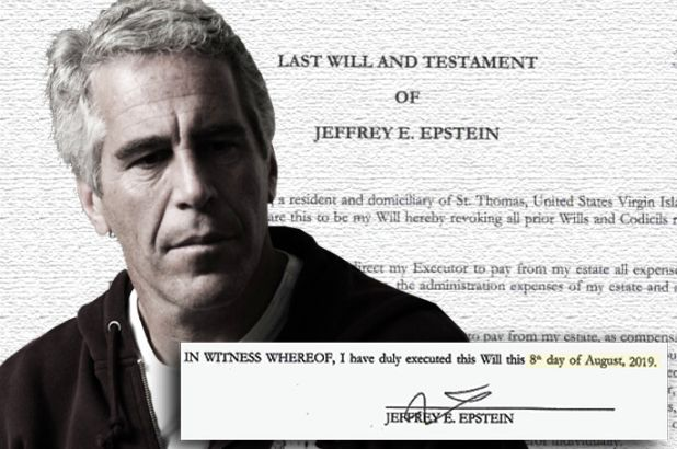 El análisis grafológico de Jeffrey E  Epstein se escabulle.