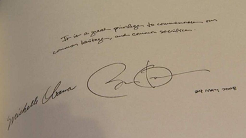 El análisis grafológico de Michelle Obama se complementa.